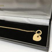 9 carat yellow gold t bar bracelet