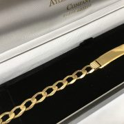 9 carat yellow gold ID bracelet