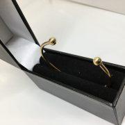 9 carat yellow gold ladies torque bangle