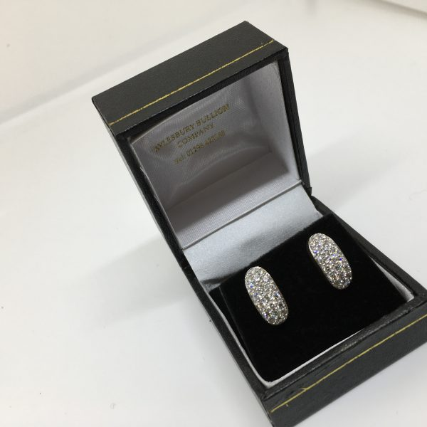 9 carat yellow gold diamond earrings