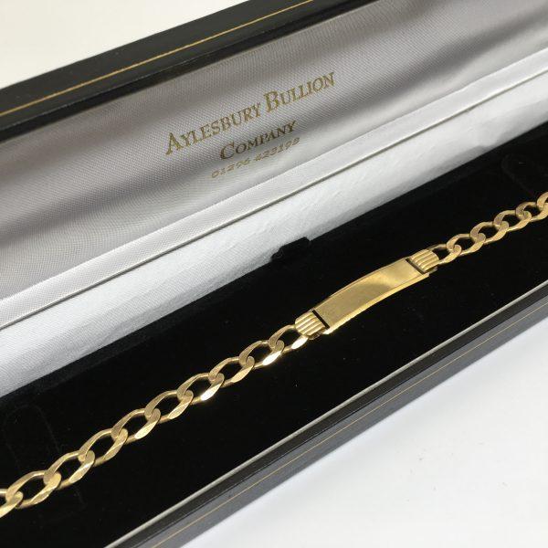 9 carat yellow gold ID bracelet