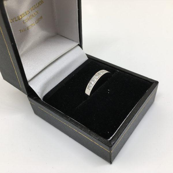 9 carat white gold diamond 1/2 eternity ring