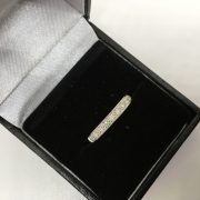 9 carat white gold 1/2 eternity ring