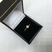 9 carat white gold solitare