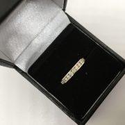 9 carat white gold 1/2 eternity ring