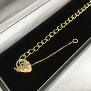 9 carat yellow gold fine charm bracelet