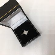 9 carat white gold diamond cluster ring