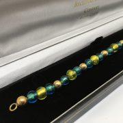 9 carat yellow gold beaded bracelet