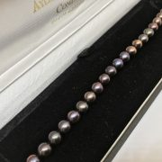 Fresh water pearl bracelet with silver clasp