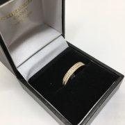 9 carat yellow gold double row diamond 1/2 eternity ring