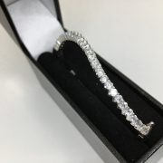9 carat white gold CZ bangle
