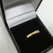 9 carat yellow gold diamond 1/2 eternity ring