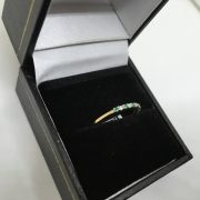 9 carat yellow gold emerald and diamond 1/2 eternity ring