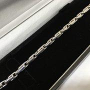 9 carat white gold trombone bracelet