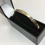 9 carat 3 colour bangle