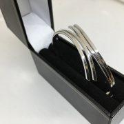 9 carat white gold fancy bangle