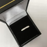 18 carat white gold diamond 1/2 eternity ring