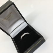 18 carat white gold double row diamond eternity ring