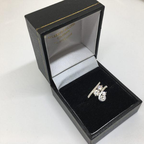 Palladium and diamond scatter ring