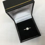 Preowned platinum and diamond single stone ring