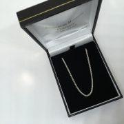 18 carat white gold 20 inch spiga chain