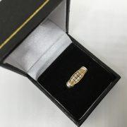Preowned 18 carat 2 colour diamond ring