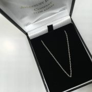 18 carat white gold 20 inch trace chain