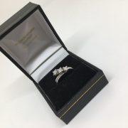 18 carat white gold 3 stone diamond ring