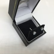 18 carat white gold aqua marine stud earrings