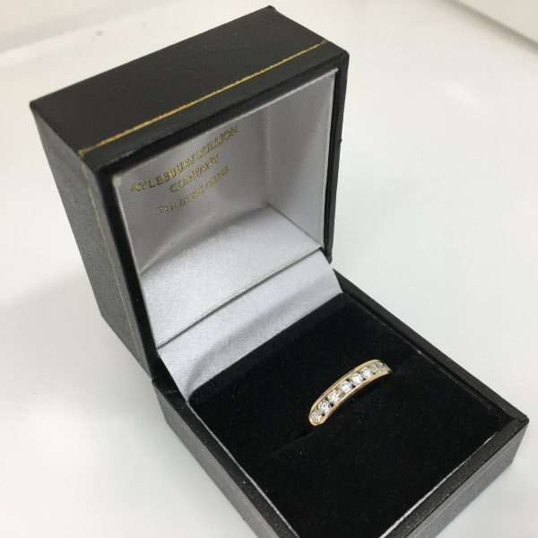 18 carat yellow gold diamond 1/2 eternity ring