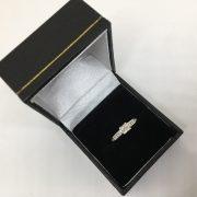 Preowned 18 carat white gold diamond multi stone ring