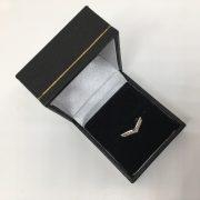 Platinum and diamond wishbone ring