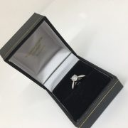 Platinum and diamond single stone ring