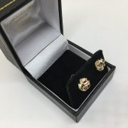 9 carat 3 colour knot studs