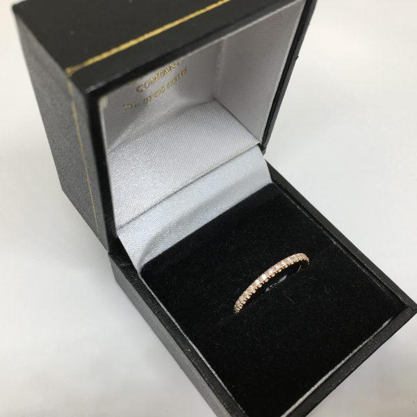 Preowned 14 carat rose gold diamond 3/4 eternity ring