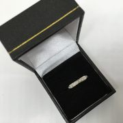 Preowned 18 carat diamond 1/2 eternity ring