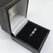 9 carat yellow gold ruby and diamond ring