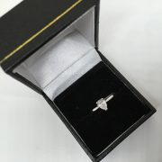 Preowned 18 carat white gold single stone ring