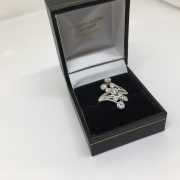 18 carat white gold diamond scatter ring
