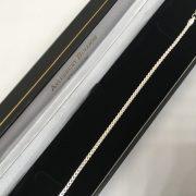 Silver flat curb box bracelet
