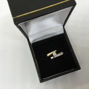 Preowned 14 carat 2 colour diamond ring