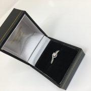 Preowned 9 carat white gold diamond ring