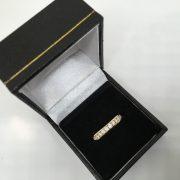 18 carat yellow gold diamond 1/2 eternity ring