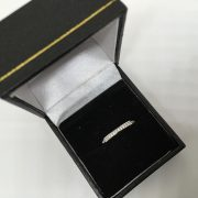 18 carat white gold diamond 1/2 eternity ring