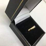 18 carat yellow gold diamond double row 1/ 2 eternity ring