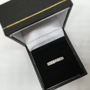 Preowned 18 carat white gold diamond 1/2 eternity ring