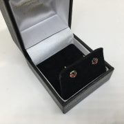 9 carat yellow gold ladybird studs