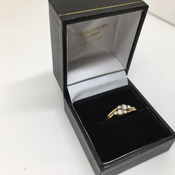 18 carat yellow gold diamond cluster ring