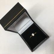 18 carat yellow gold single stone diamond ring