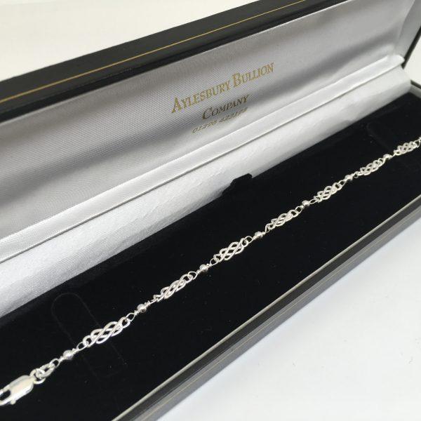 Silver Celtic design bracelet